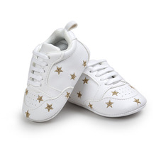 2019 Baby Shoes Newborn Boys Girls Heart Star Pattern First