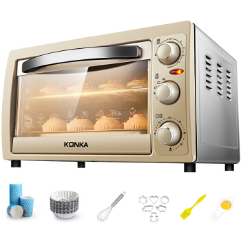 Electric Home Mini Oven Multi-purpose 25L Domestic Ovens with Double Heating Tube Grills Bakes and Roasts Kitchen ApplianceElectric Home Mini Oven Multi-purpose 25L Domestic Ovens with Double Heating Tube Grills Bakes and Roasts Kitchen Appliance