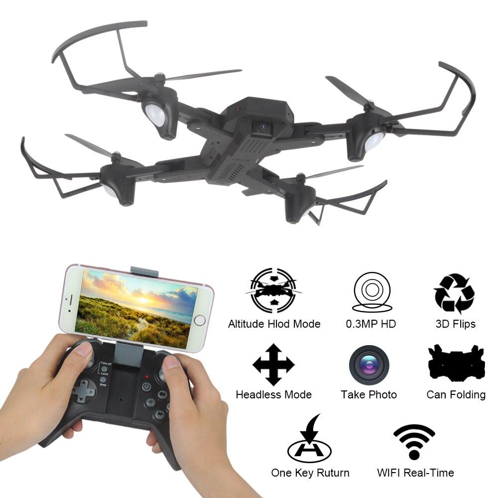 TIANQU XS809W Drone RC pliable RTF WiFi FPV g sensor Mode hélicoptères RC quadrirotor un retour de clé - 5