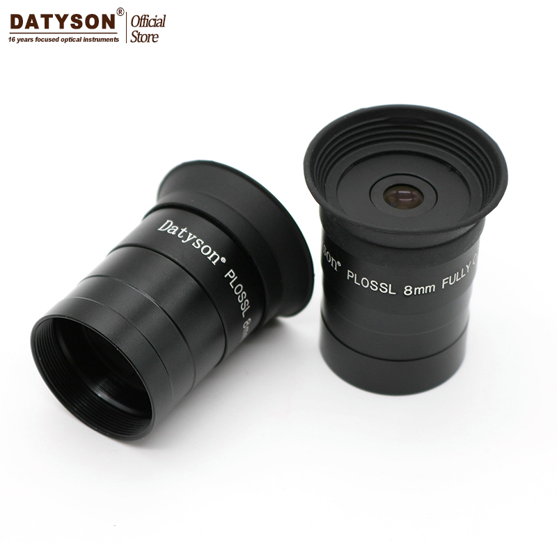 1.25 8mm Eyepiece Fully Coated Film Plossl Astronomical Telescope Ocular with Extinction Filter Thread for Astro Lens