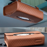 Removable Car Visor Tissue Holder Caddy Kits Refill Kleenex Cases Handy Tissue Box Hanging Paper Box