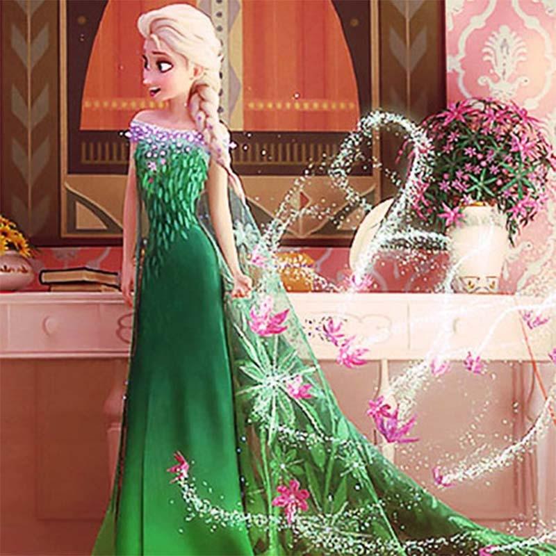 children summer 2016 anna elsa dresses kids dress girls costume vestidos infant rapunzel baby birthday party frock Halloween - Guang Zhou PL Trading Co.,Ltd Store store