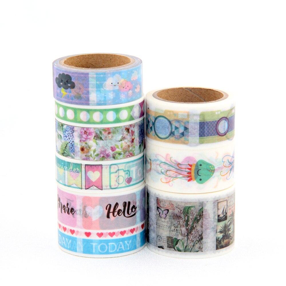 buy new washi tape set scrapbooking decorative adhesive tape kawai adesive. Black Bedroom Furniture Sets. Home Design Ideas