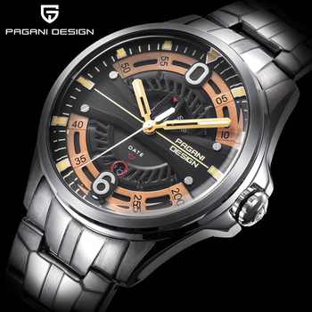2019 Relogio Masculino PAGANI DESIGN Brand Quartz Watch Military Sports Stainless Steel Clock Waterproof Men Watch Fashion Men - DISCOUNT ITEM  48 OFF Watches