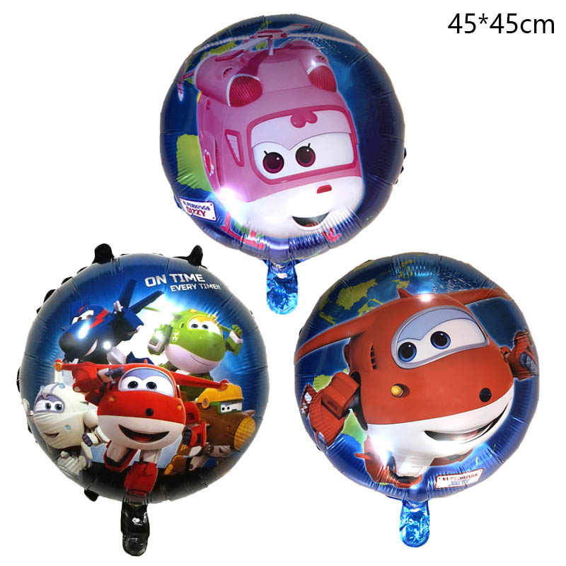 1Pcs 3D Super Wings Foil Balloon 18'' SuperWings globos Jett Helium Balloon Birthday Party Decorations Kids toys air balloons