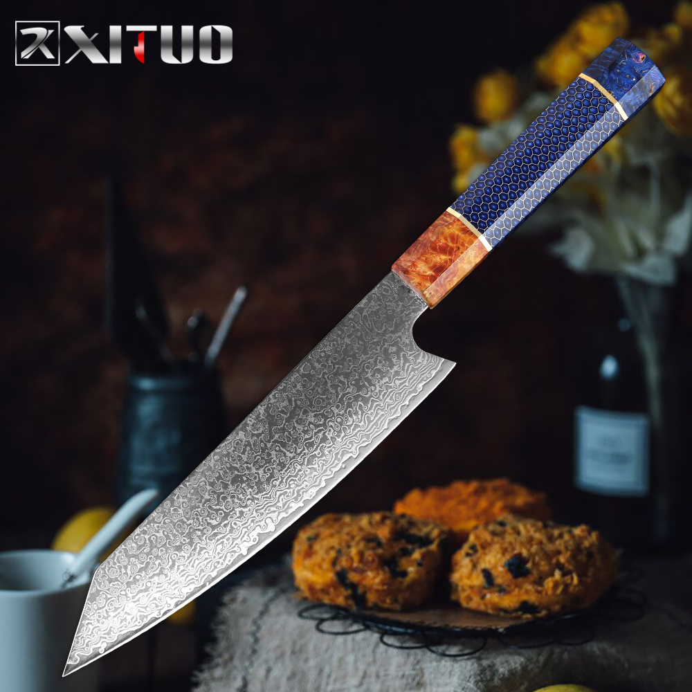 XITUO Damascus Steel 67-story Kitchen Chef Knife 8 Inch Professional Kiritsuke gyuto Sharp Sushi Fish Meat Cleaver Cooking ToolsXITUO Damascus Steel 67-story Kitchen Chef Knife 8 Inch Professional Kiritsuke gyuto Sharp Sushi Fish Meat Cleaver Cooking Tools