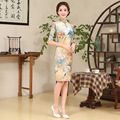 Hot Sell Women Silm Chinese Dress Elegance Female Chinese Traditional Dress Flower Style Qipao Evening Party Dress 16