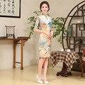 Venda quente mulheres Silm elegância feminino chinesa da flor vestido tradicional chinês Qipao estilo Evening vestido de festa 16