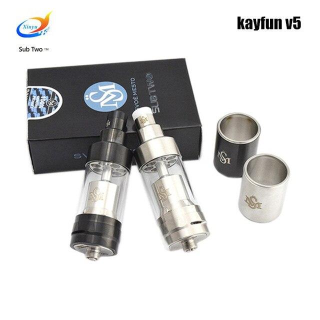 RDA Kayfun v5 atomiseur contrôle de flux d'air reconstrucdabl goutteur grande vapeur en acier inoxydable vaporisateur électronique cigarette réservoir VAPE KIT