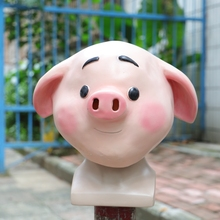 2019 Sweet Cute Pig Mask Funny Animal Zoo Halloween Latex Cosplay New