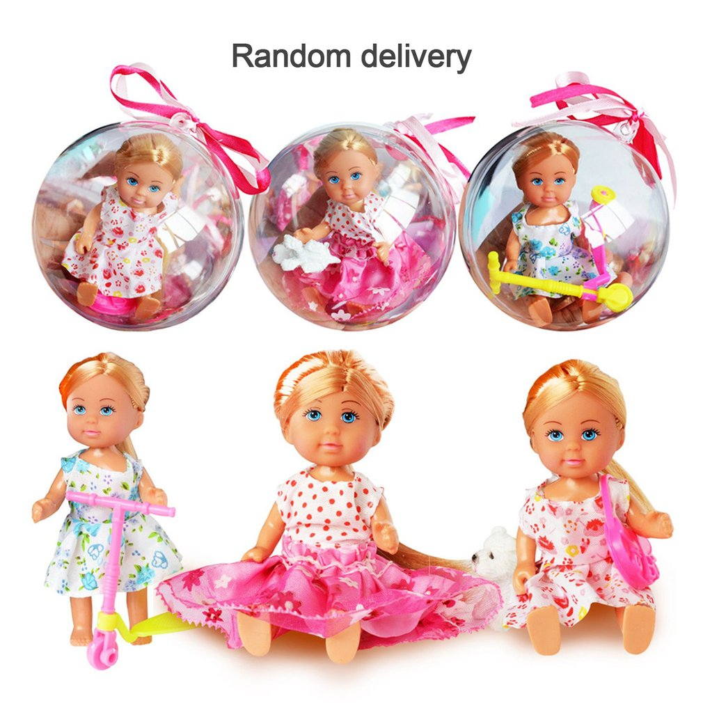 Baby Pocket doll Figure Clothes Changing Toy American Girl Doll lol Toy Removable Magic Clear Ball Doll Girls Toy Birthday Gift
