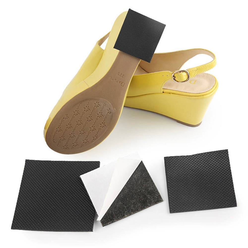 1 Pair Insole Sticker High Heel Women Shoes Non Slip Tape Black Cuttable Lady Protective Anti Skid Sole S/L Shoe Care Kit