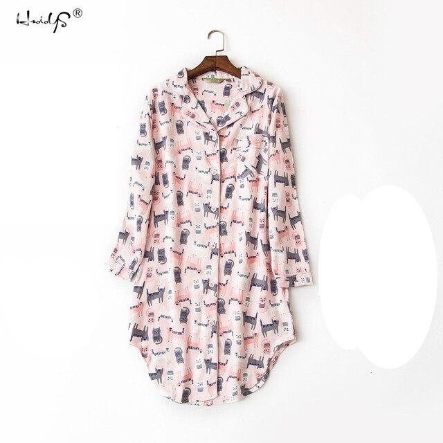 100% Cotton Women's Flannel Nightshirt 4