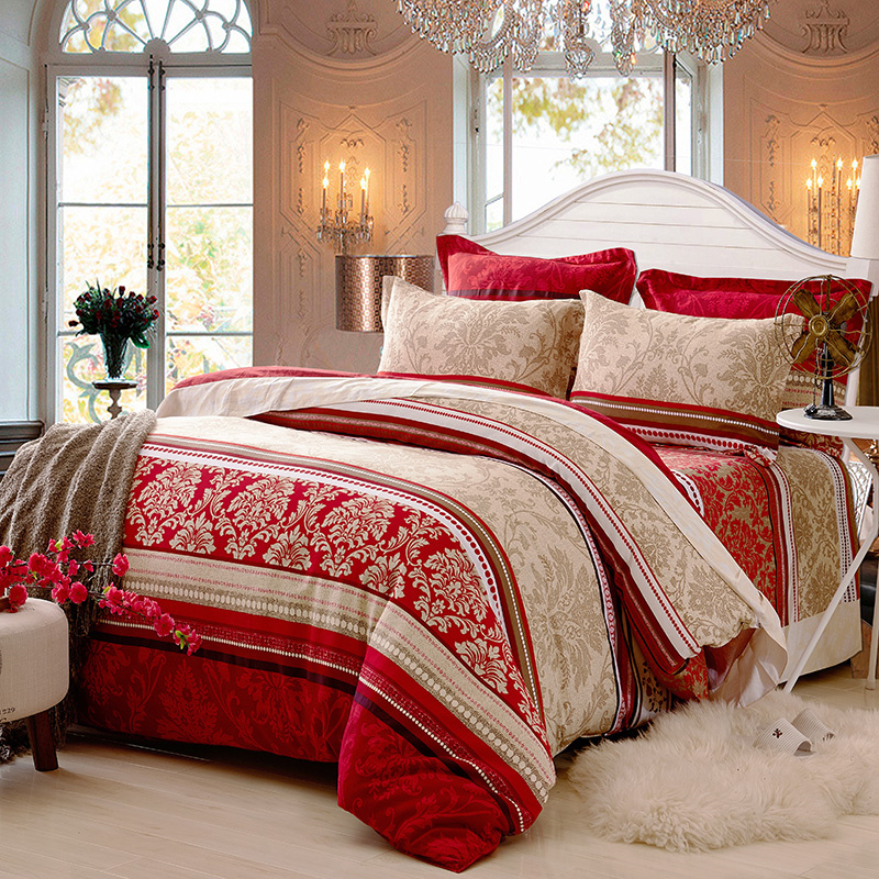 100 Cotton Bohemia Stripe Bedding Set for Autumn and Winter Twin Queen King Size Bed Linen