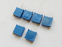 20 pcs 3296W Potentiometer 103 10K Variable Resistors 3296 Potentiometer Adjustable Multiturn Trimmer