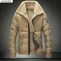 Hombres Chaqueta de invierno 2016 Nueva Moda Abrigo de Invierno de Los Hombres Ocasionales Cómodos Más El Tamaño M-XXXL de Calidad Superior Envío Gratis