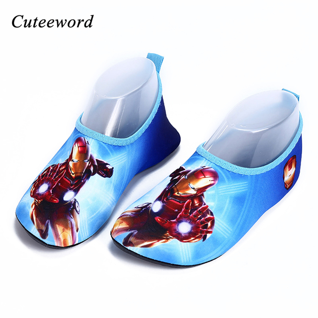 40d9328d6 Children swimming diving socks shoes kids cartoon slippers warm non- slip  child shoes boys cute beach shoes anti-scratches shoes