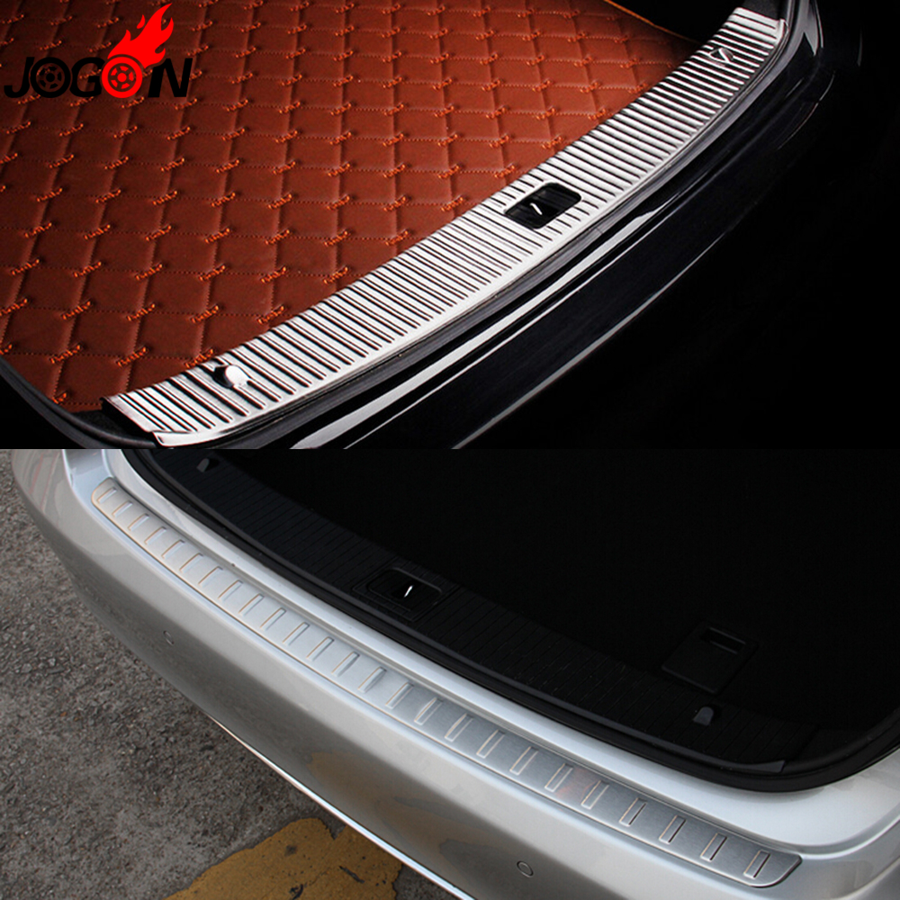 Interior exterior rear trunk bumper sill plate cover for How to open the trunk of a mercedes benz e320