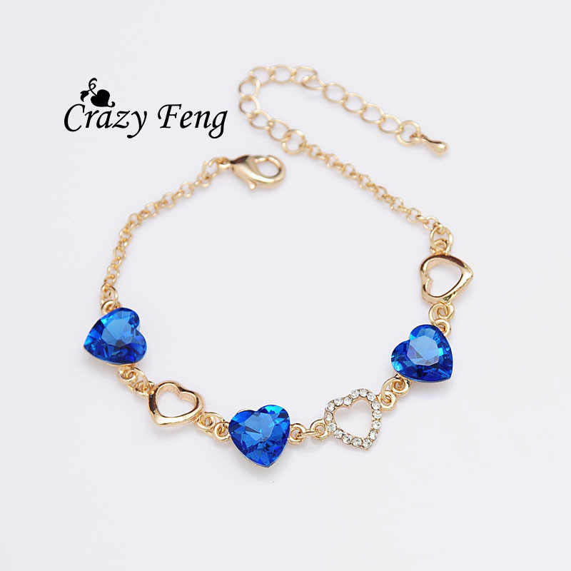 Free shipping  Women's/Girl's Gold-color Austrian Crystal  Bracelets & Bangles Gift Jewelry