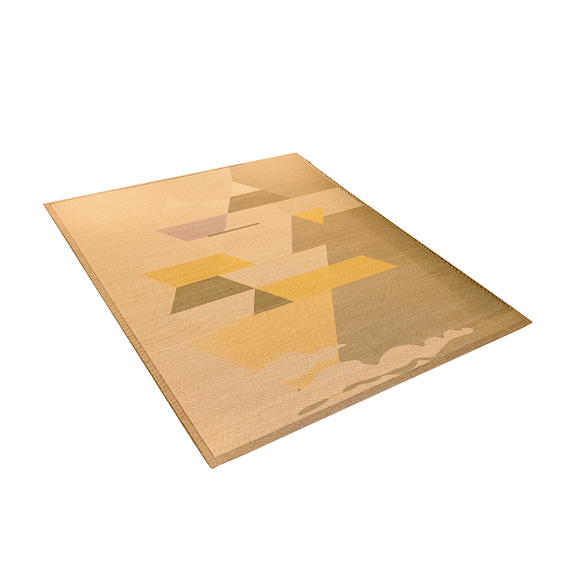 Tapis japonais en bambou grand tapis Rectangle Portable mode tapis confortable Designer tapis en soie de bambou pour salon, chambre