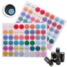192 cái/Tấm Giấy Đầy Màu Sắc Dán Nhãn cho Thủy Tinh Dầu Thiết Yếu Chai Cap Nắp Nhãn Trống Vòng Vòng Tròn Sticker #281571