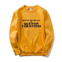 GAAJ WRITTEN AND DIRECTED BY QUENTIN TARANTINO Men Women Sweatshirt Yellow Cotton Male Man Fleece Streetwear Hip Hop Brand 3XL