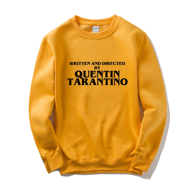 GAAJ נכתב ובוים על ידי קוונטין טרנטינו גברים נשים סווטשירט צהוב כותנה זכר איש צמר Streetwear היפ הופ מותג 3XL