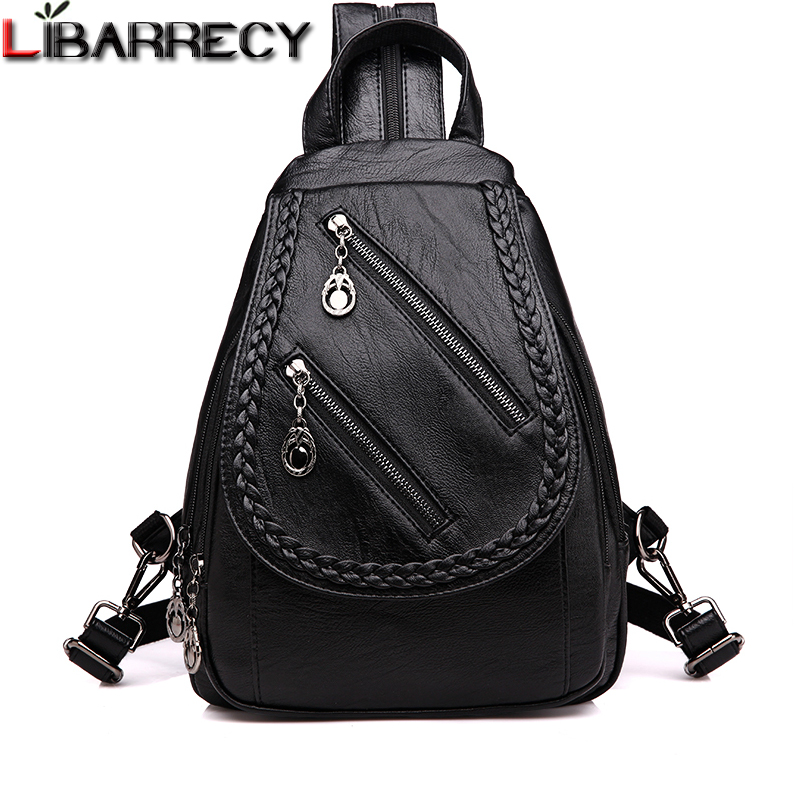 Women, Female, Large, Backpack, Leather, Travel