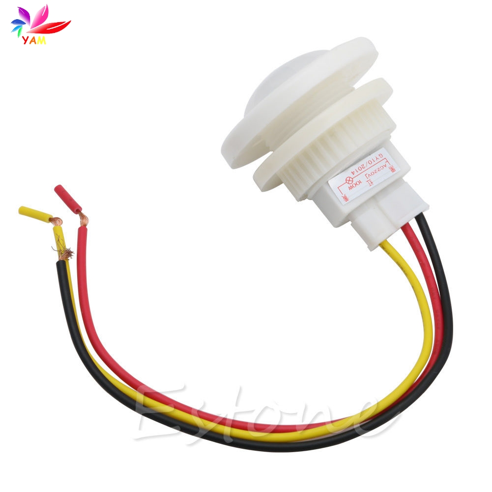 Lighting Accessories Switches Considerate Infrared Pir Motion Sensor Switch For Light 100w Max Ac 220v 360 Degree White-25 Shrink-Proof