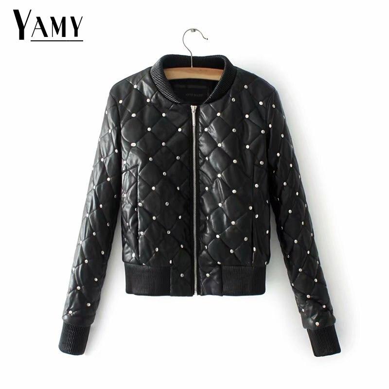 New leather jacket women chaqueta mujer jaqueta de couro long sleeve zipper coat black korean fashion