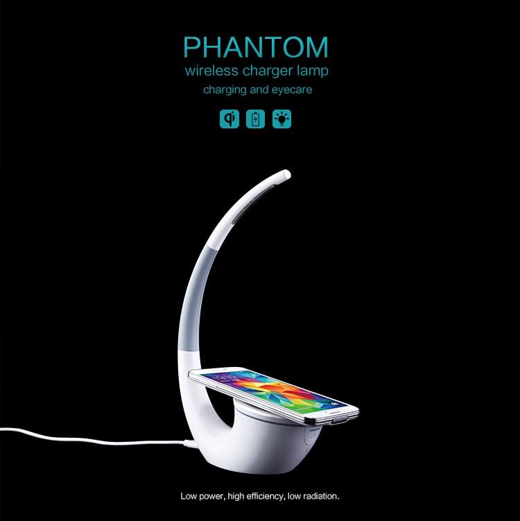 Nillkin di Alta-la tecnologia Senza Fili del Caricatore Phantom Lampada Da Tavolo Senza Fili Vita Infinita Libertà Dell'ottica Caricatore di Potere Del Telefono
