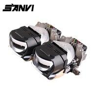 Sanvi 2pc 2.5''H88 Bi LED projector lens headlight 45W 6000k Auto LED projector Headlight car Motorcycle light retrofit kit