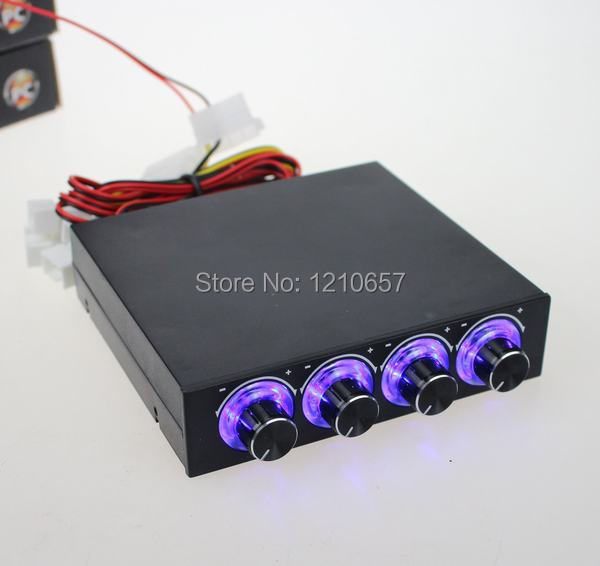 все цены на 1 piece  STW  PC Case Floppy Position 4 -Channel Blue LED Speed  Fan Controller Control Cooling онлайн