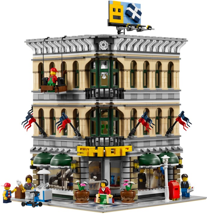 LEPIN 15005 2232Pcs City Grand Emporium Model Building Kits Blocks Brick Toy Compatible legoed 10211 lepin 22001 pirate ship imperial warships model building block briks toys gift 1717pcs compatible legoed 10210