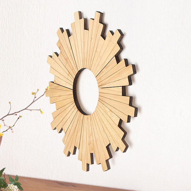 Vintage rustic wood wooden art wall decor round hanging for American style home decoration