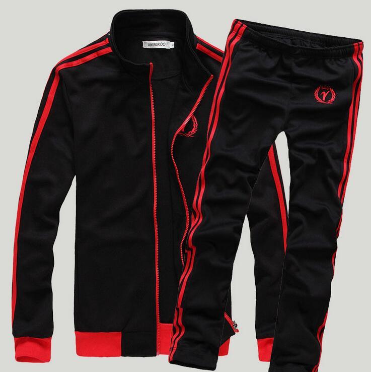 KEENEST Spring New Leisure Suit Baseball Uniform Hoodies Suit Man Palace Men Sport Suit Set Youths Mens Tracksuit