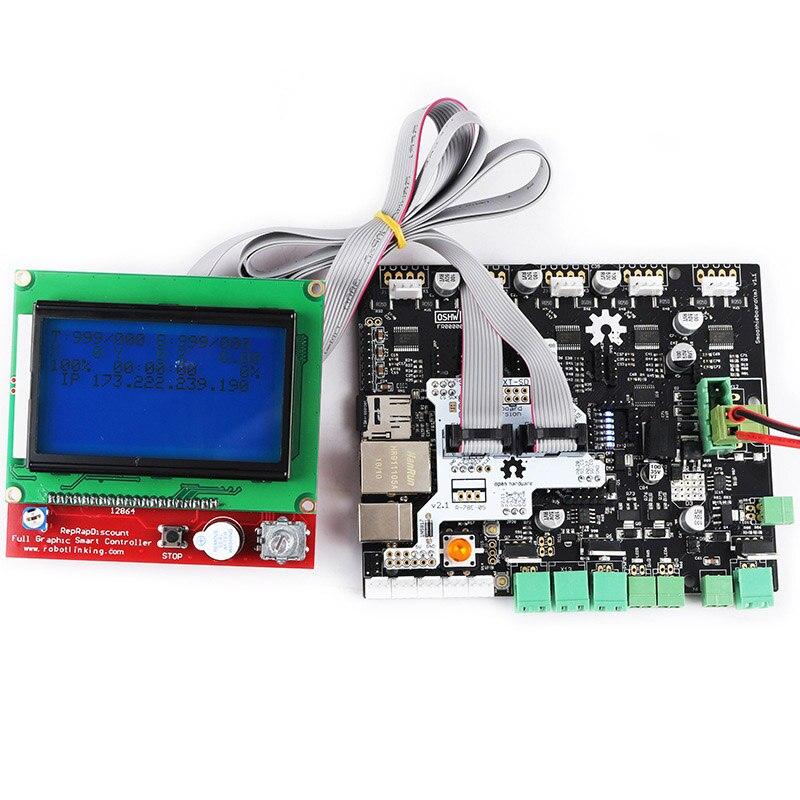 Kit d'écran d'affichage LCD 5X V1.1 + 12864 pour imprimante 3D QJY99