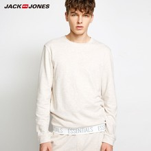 JackJones גברים של סרוג כותנה חולצה ספורט Homewear בסיסי רך חם חדש מותג בגדי גברים 2183HE502