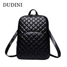 Dudini горячих женщин стеганый рюкзак мода кожаный рюкзак для подростков Meninas мешок сплошной Цвет клетчатый узор плечи