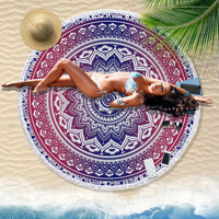 India macrame exotic tapestry wall hanging witchcraft Mandala religious tapestry sunflower bohemia round carpet yoga mat towel