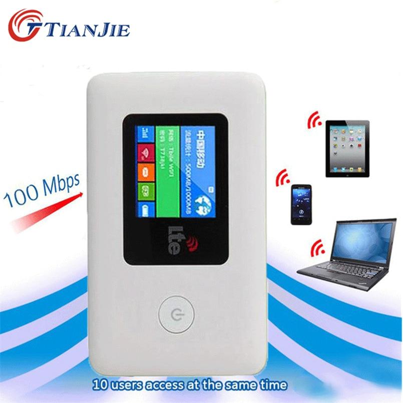 TIANJIE 4G SIM Card WIFI Router Mobile WiFi LTE 100Mbps Travel Partner Wireless Pocket WiFi Hotspot