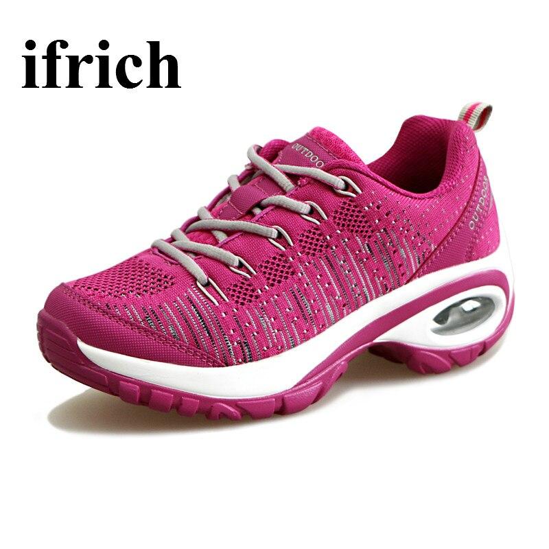 Ifrich Running Shoes For Women  Transpirable Gimnasio Correr Zapatos Rojo/Negro/