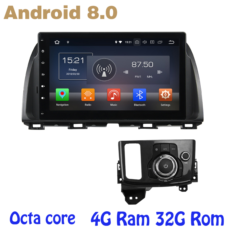 for mazda CX5 2013 2016 Android 8.0 Octa core PX5 car radio dvd gps with 4G RAM 32G ROM wifi 4g usb auto Multimedia