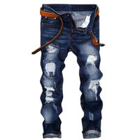 Ripped Jeans For Men High Quality Men S Jeans 2016 New Casual Robin Hole Jeans Balmai