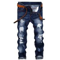 jeans men high quality men's jeans 2017new casual robin hole balmai jeans biker Straight homme balmai jeans men