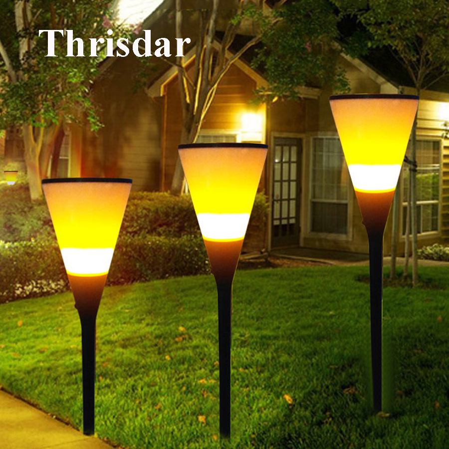 Led Landscape Lights Flickering: Thrisdar 3 In 1 Solar Tiki Torch Lights 96 Led Dancing