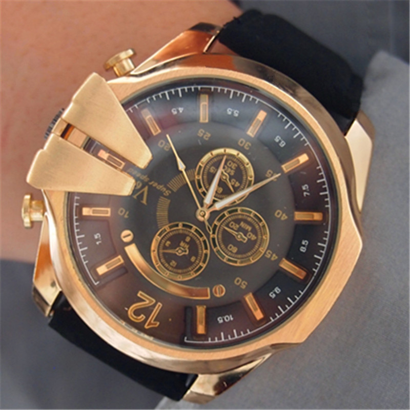 police scrambler rose big watch gold with day gents quartz mens watches date xxl