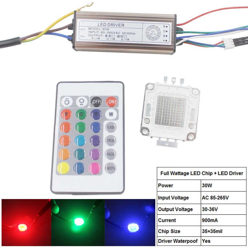 10w 20w 30w 50w 100w cob rgb led light bulb led flood light chip and led