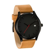 Fashion Big Dial Watches Men Military Sport Wrist Watch Casual Leather Calendar Business Quartz Watch Male Clock reloj hombre paidu special turntable dial sport watches for men leather modern trendy casual unique student quartz watch fashion male clock
