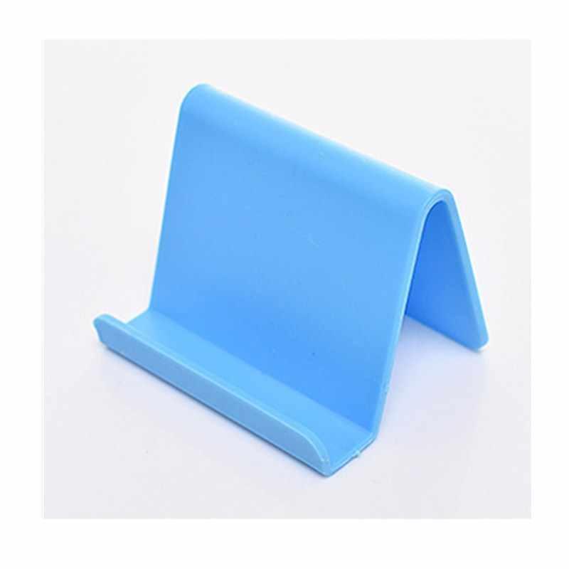Przenośny uchwyt na telefon uchwyt stały cukierki kolor plastikowy organizer Mini wizytownik na karty biznesowe stojak na telefon komórkowy gospodarstwa domowego
